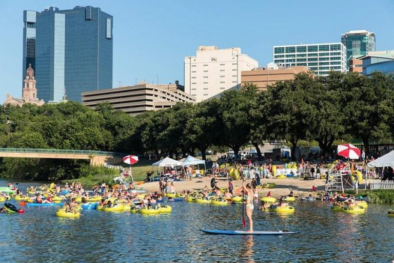 Trinity River During Rockin' the River Festival
