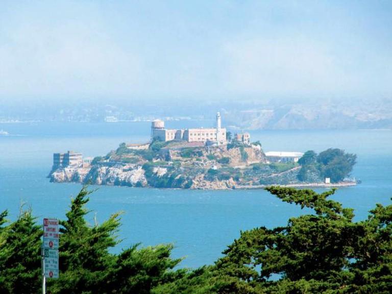 Alcatraz from the parking lot of Coit Tower | Rachel Kramer/Flickr