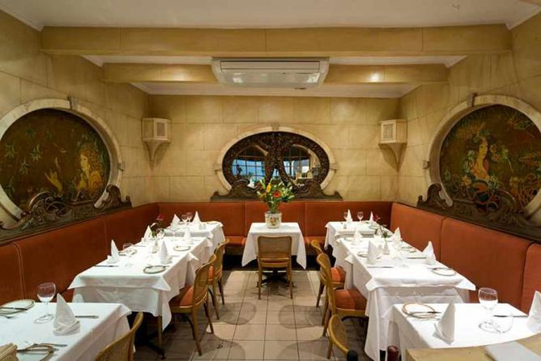 La Gaffe's cosy interior