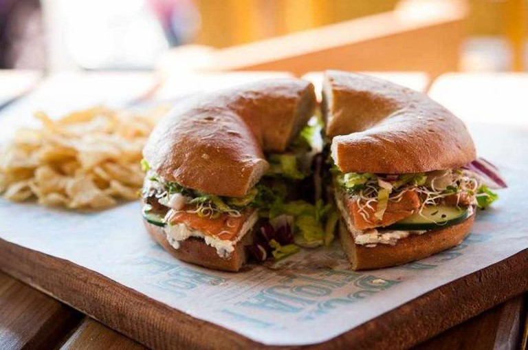 Salmon bagel | courtesy of Boca Floja