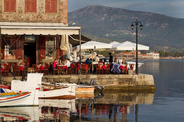 Dining by the sea in Molyvos
