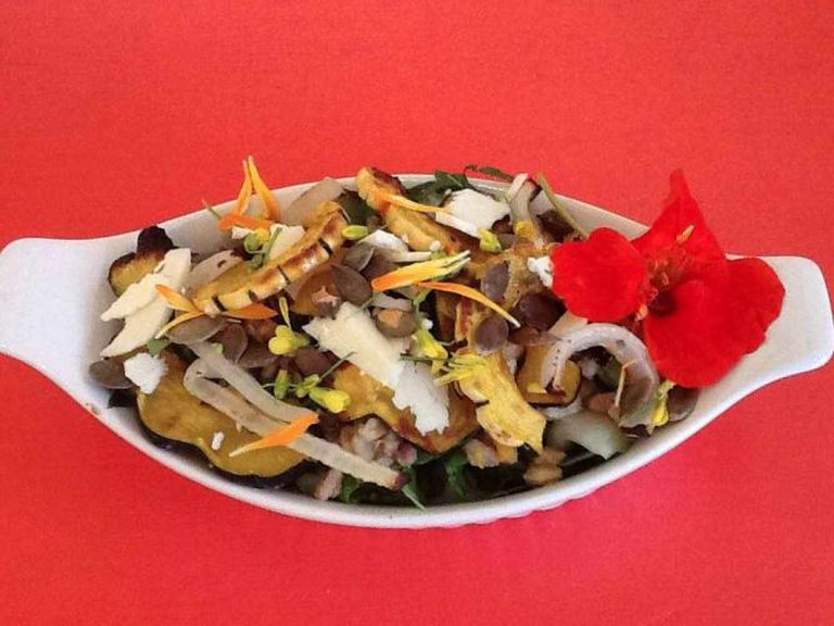 A roasted delicata and acorn squash salad at Hope's | Courtesy of Hope's Artisan Foods