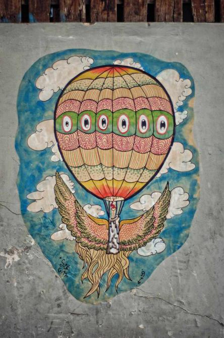 Up Up and away.  | © Adida Fallen Angel & The Sick City Crew, 2012