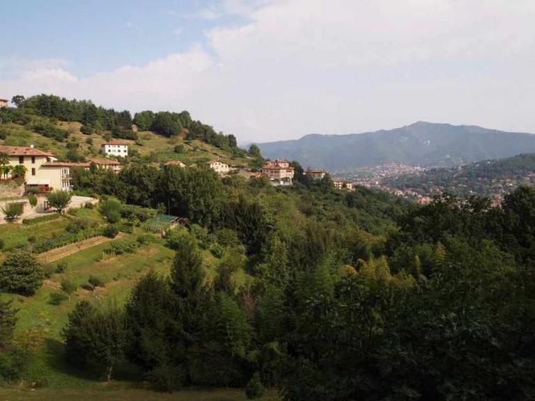 Hills around Bergamo / Photo By Author
