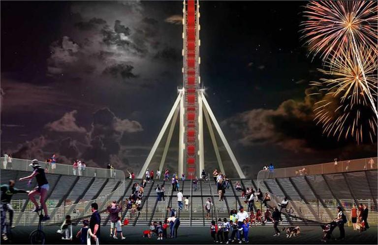 New Ferris wheel rendering | Courtesy of Navy Pier Media