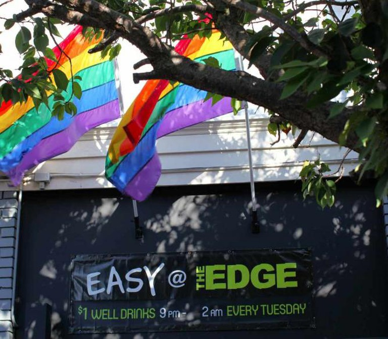 A banner at the The Edge during The Castro Street Fair | © Torbakhopper/Flickr