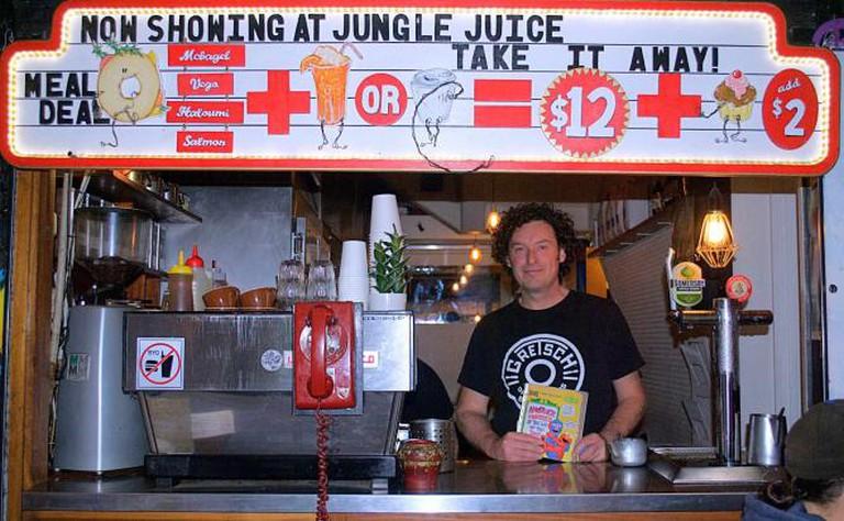 Marcus McNamara at the counter of Jungle Juice | © Kaitlyn Wilson