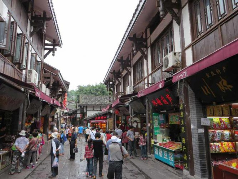 Street scene in Ciqikou, Chongqing, China