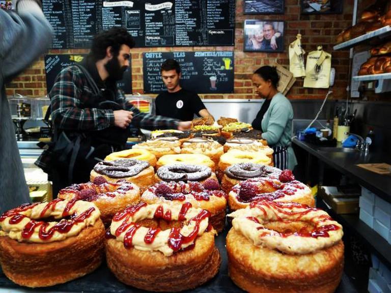 Rows Of Doughnuts | Courtesy of Rinkoff Bakery