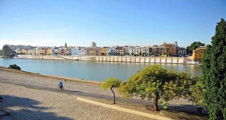 Cycling through Triana, Seville