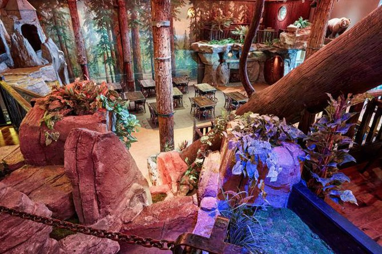 Foliage adds atmosphere to Clifton's Cafeteria © Ryan Tanaka