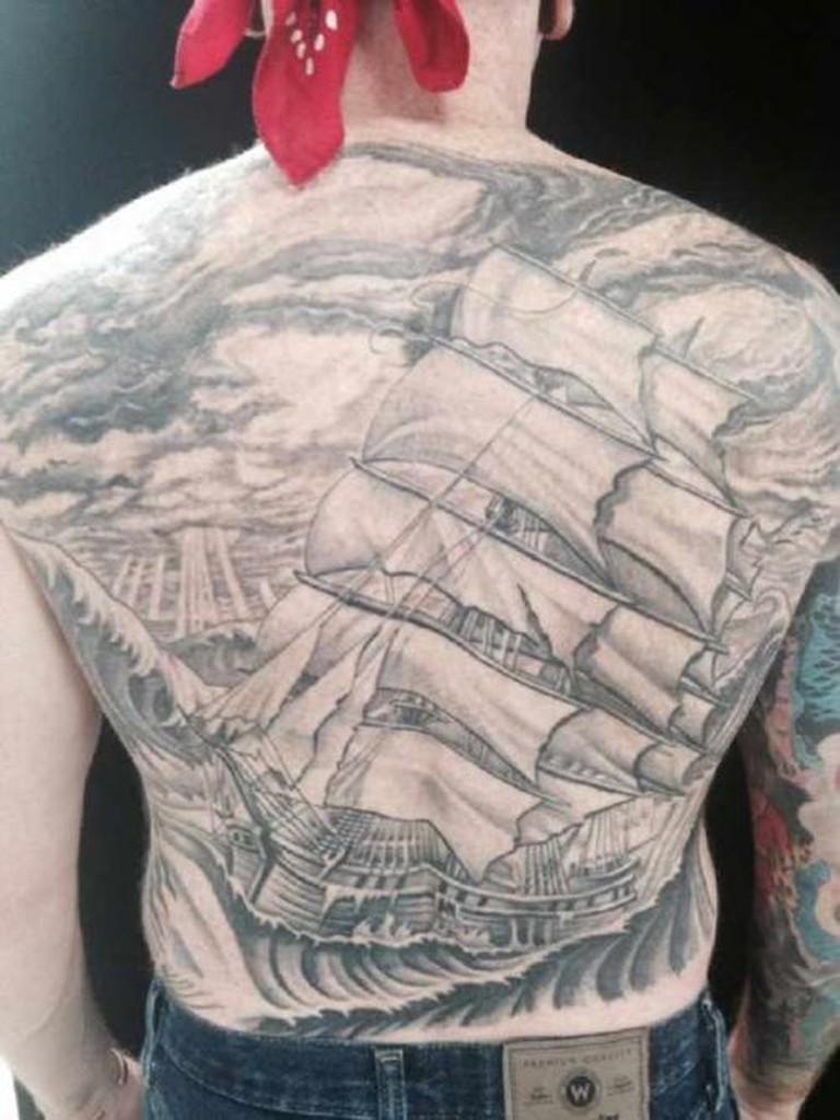 Back tattoo   courtesy of Ben Wahhh