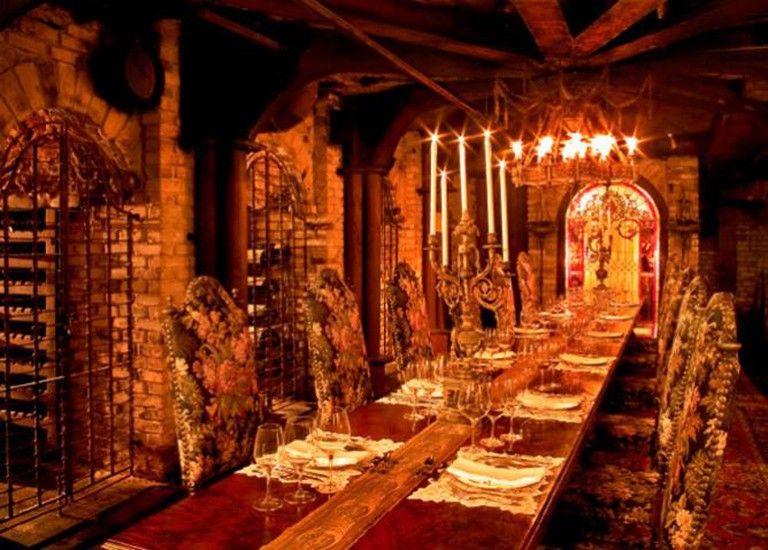 Inside the wine cellar | Courtesy of Sardine Factory