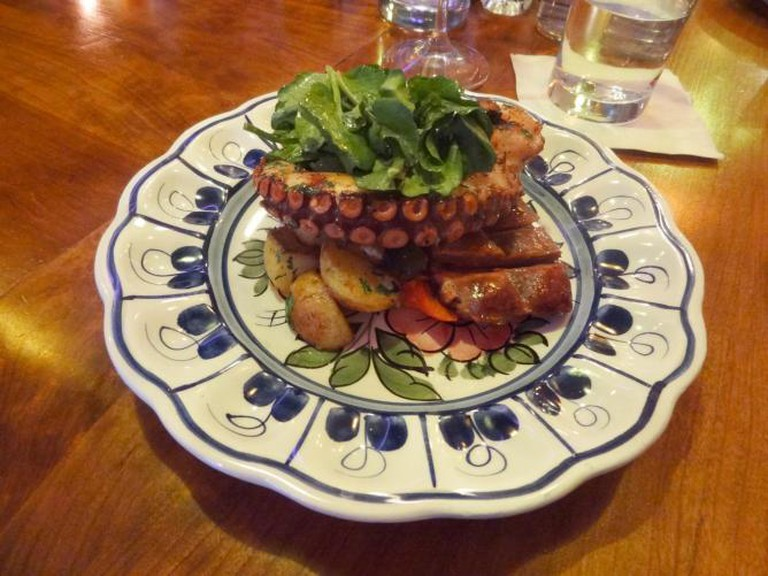 Bar Isabel's octopus with chorizo | © Ross Bruniges/Flickr