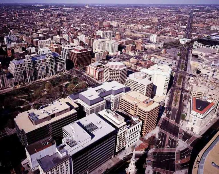 Aerial View of Downtown Washington DC