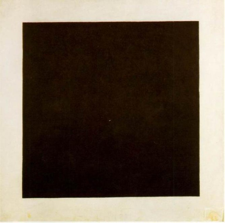 Malevitch black square russian art