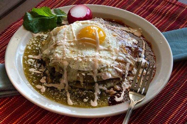 Stacked Enchilada | Courtesy of Cafe Del Rio
