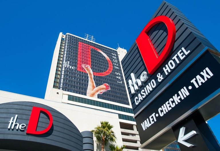 Guest room at The D Las Vegas