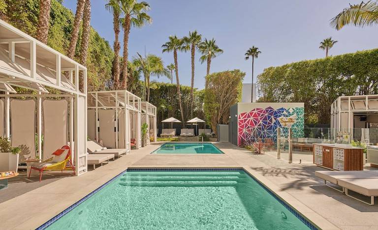 Each room at the Viceroy Santa Monica is bright and modern