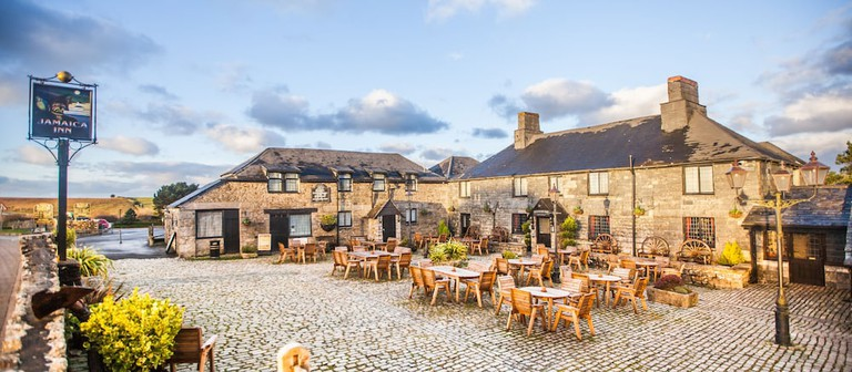 The Famous Jamaica Inn On Bodmin Moor In Cornwall, UK