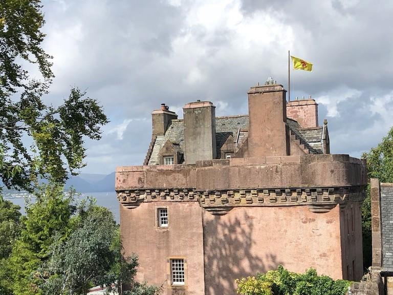 Castle Levan, Inverclyde, Scotland sitting room interior