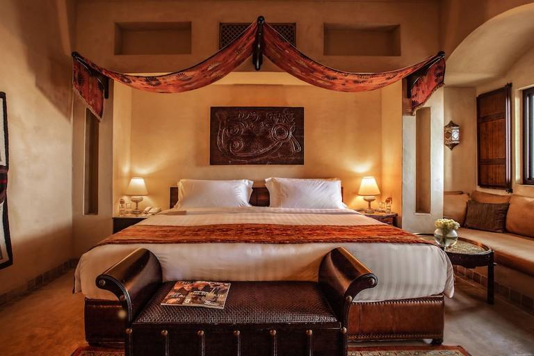 A traditional room at Bab Al Shams Desert Resort and Spa, Dubai, UAE.