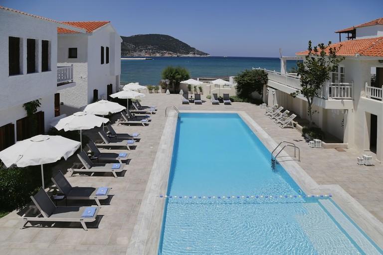 Skopelos Village Hotel is where the stars stayed