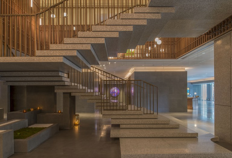 The Sukhothai Shanghai's rooms are both timeless and contemporary