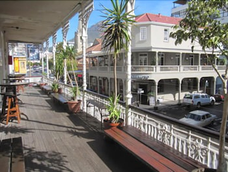 Bars, restaurants and hostels on Long Street in Cape Town, South Africa