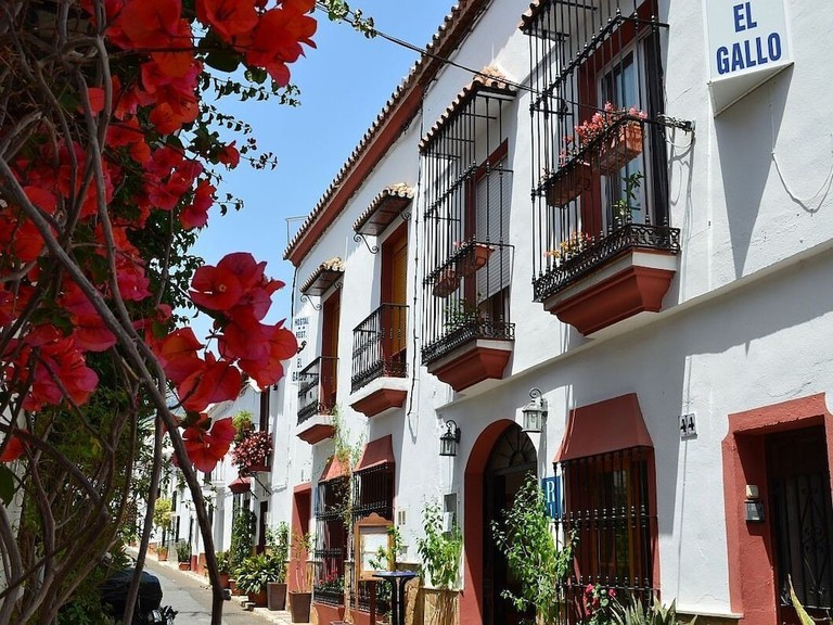 Guests at El Gallo hostel have old Marbella and its boutiques on their doorstep