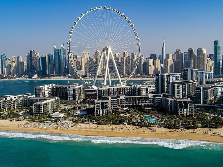 A luxury room with sea views at Caesars Palace, Dubai, UAE.