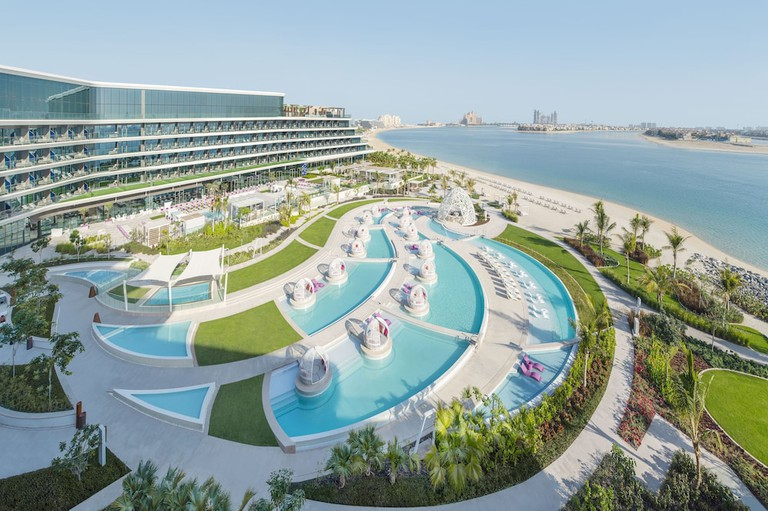 A uniquely designed room at the W Dubai, UAE.