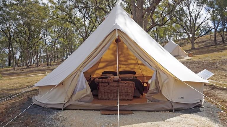 Cosy Tents bedroom interior