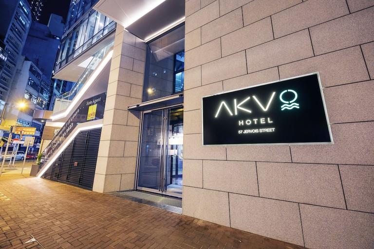 A stylish room at the AKVO Hotel