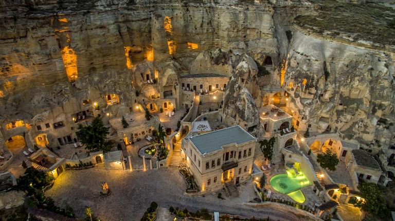 Turkey, Central Anatolia, Nevsehir Province, Cappadocia UNESCO World Heritage, Urgup, Yunak Evleri luxury hotel in old