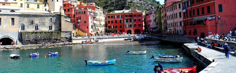 Vernazza view in Cinque Terre. Travelling Italy. Landsape in Cinque Terre, Vernazza