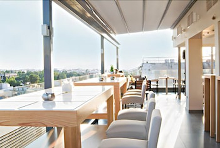 The rooms at A for Athens are simple but effortlessly stylish