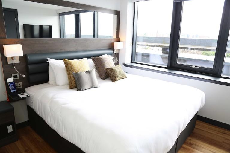 Guest room at Haymarket Hub Hotel
