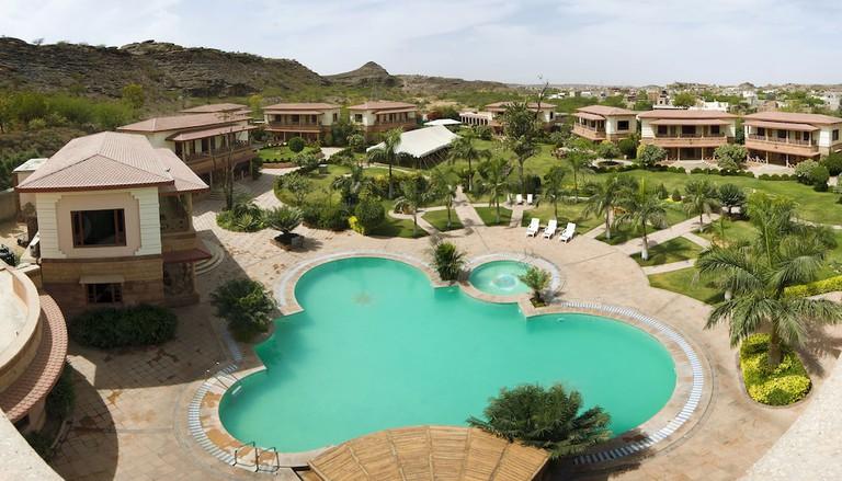 The pool at The Marugarh Resort & Spa