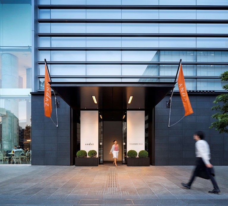 The contemporary design sets the Andaz Tokyo Toranomon Hills apart