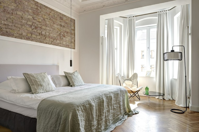 Each room at Gorki Apartments is decorated with hand-picked vintage furnishings
