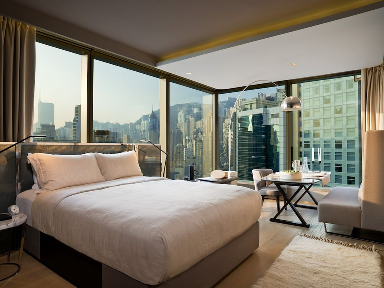 Drift off to sleep surrounded by unforgettable city views, 99 Bonham, Hong Kong