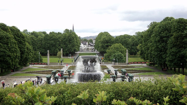 The fountain in Vigeland Park