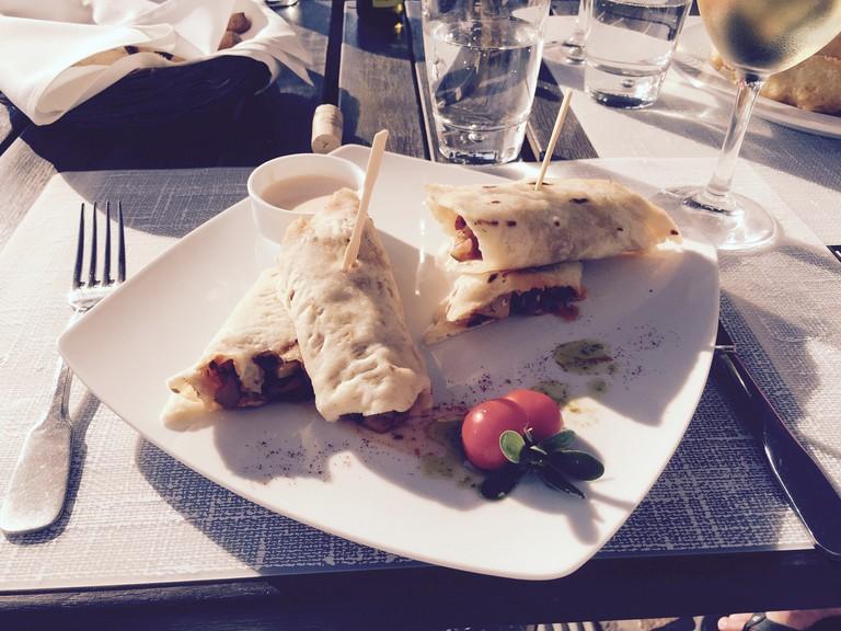 Lunch at Selene Meze & Wine in Pyrgos