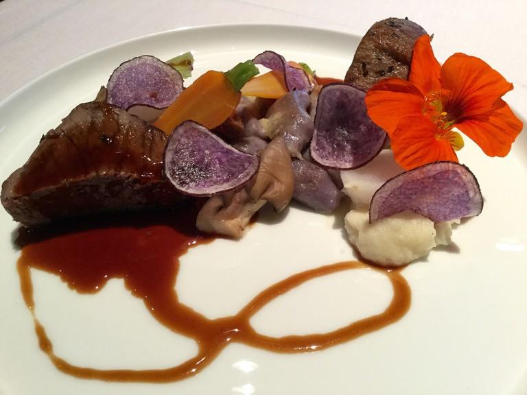 Braised short rib with Peruvian gnocchi