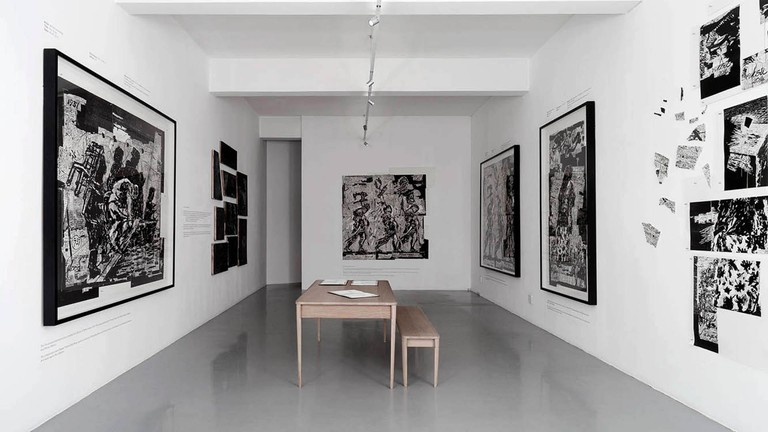 The gallery space in Parkwood