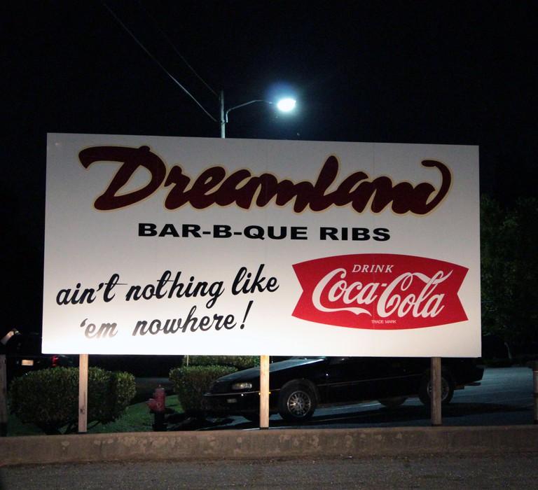 Dreamland BBQ sign