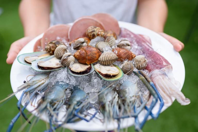 Seafood platter set © pornvit_v / Shutterstock