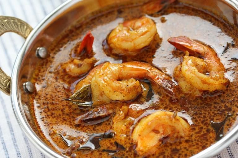 Prawn curry , indian food