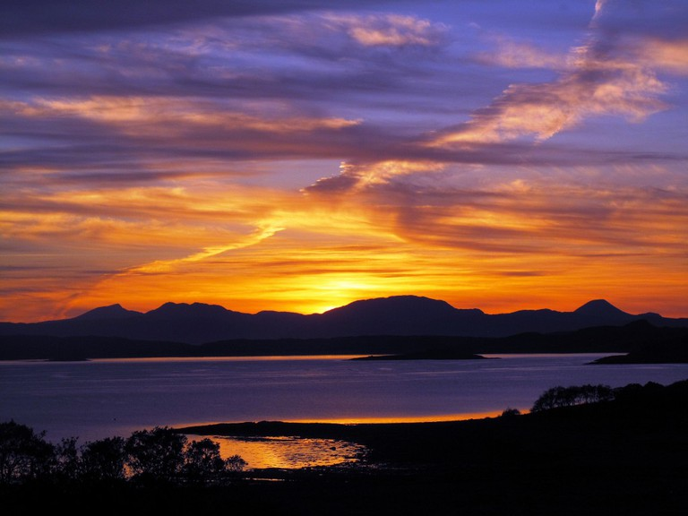 Sunset from Arduaine, Argyll Coast ©Forbes Johnston